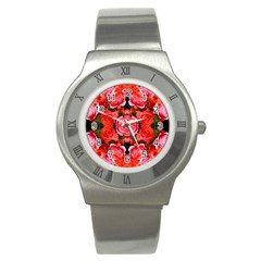 Beautiful Red Roses Stainless Steel Watches by Costasonlineshop