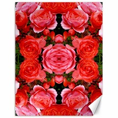 Beautiful Red Roses Canvas 18  X 24   by Costasonlineshop
