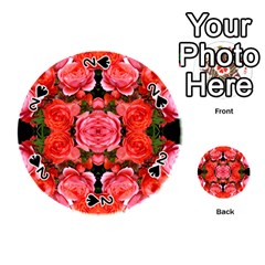Beautiful Red Roses Playing Cards 54 (round)  by Costasonlineshop