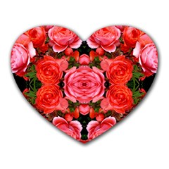Beautiful Red Roses Heart Mousepads by Costasonlineshop