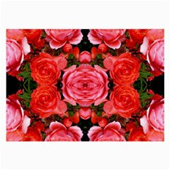 Beautiful Red Roses Large Glasses Cloth by Costasonlineshop