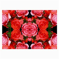 Beautiful Red Roses Large Glasses Cloth (2-Side) by Costasonlineshop