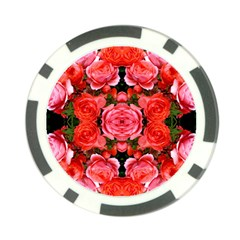 Beautiful Red Roses Poker Chip Card Guards (10 pack)  by Costasonlineshop