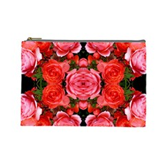 Beautiful Red Roses Cosmetic Bag (large)
