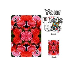 Beautiful Red Roses Playing Cards 54 (mini)  by Costasonlineshop