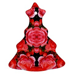 Beautiful Red Roses Christmas Tree Ornament (2 Sides) by Costasonlineshop