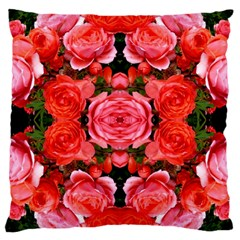 Beautiful Red Roses Large Cushion Cases (one Side)
