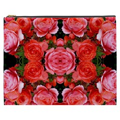 Beautiful Red Roses Cosmetic Bag (xxxl)  by Costasonlineshop