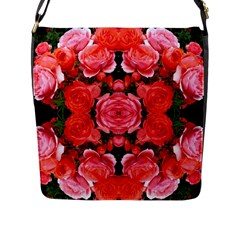 Beautiful Red Roses Flap Messenger Bag (L)  by Costasonlineshop