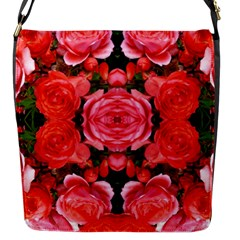 Beautiful Red Roses Flap Messenger Bag (s) by Costasonlineshop