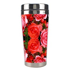 Beautiful Red Roses Stainless Steel Travel Tumblers by Costasonlineshop