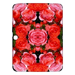 Beautiful Red Roses Samsung Galaxy Tab 3 (10 1 ) P5200 Hardshell Case  by Costasonlineshop