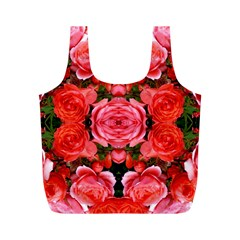 Beautiful Red Roses Full Print Recycle Bags (m)  by Costasonlineshop