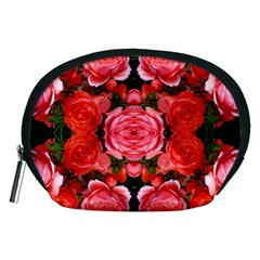 Beautiful Red Roses Accessory Pouches (Medium)  by Costasonlineshop
