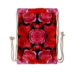 Beautiful Red Roses Drawstring Bag (Small) by Costasonlineshop