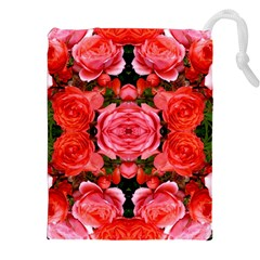 Beautiful Red Roses Drawstring Pouches (xxl) by Costasonlineshop