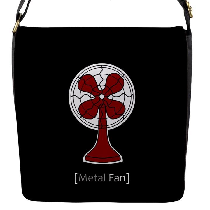 Metal Fan Flap Messenger Bag (S)
