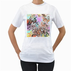 Distortedbeauty Women s T-Shirt (White) (Two Sided) by theunrulyartist