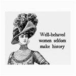Well-Behaved Women Seldom Make History Small Glasses Cloth (2-Side) Front
