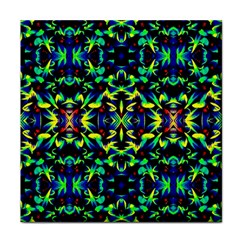 Cool Green Blue Yellow Design Tile Coasters