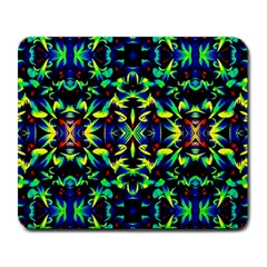 Cool Green Blue Yellow Design Large Mousepads by Costasonlineshop