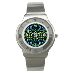 Cool Green Blue Yellow Design Stainless Steel Watches