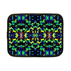 Cool Green Blue Yellow Design Netbook Case (small)  by Costasonlineshop