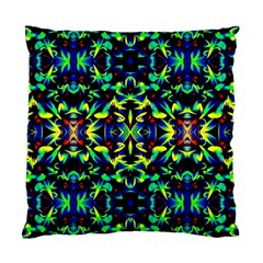 Cool Green Blue Yellow Design Standard Cushion Case (one Side)
