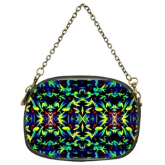 Cool Green Blue Yellow Design Chain Purses (two Sides)  by Costasonlineshop
