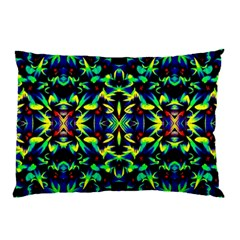Cool Green Blue Yellow Design Pillow Cases by Costasonlineshop
