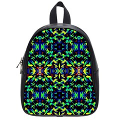 Cool Green Blue Yellow Design School Bags (small)  by Costasonlineshop