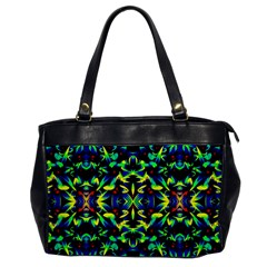 Cool Green Blue Yellow Design Office Handbags by Costasonlineshop