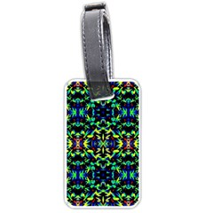 Cool Green Blue Yellow Design Luggage Tags (two Sides)