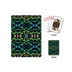 Cool Green Blue Yellow Design Playing Cards (mini)