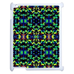 Cool Green Blue Yellow Design Apple Ipad 2 Case (white) by Costasonlineshop