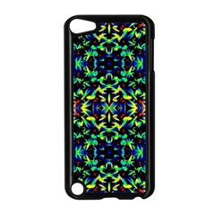 Cool Green Blue Yellow Design Apple Ipod Touch 5 Case (black)