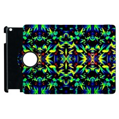 Cool Green Blue Yellow Design Apple Ipad 2 Flip 360 Case by Costasonlineshop