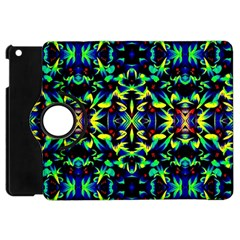 Cool Green Blue Yellow Design Apple Ipad Mini Flip 360 Case by Costasonlineshop