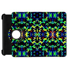 Cool Green Blue Yellow Design Kindle Fire Hd Flip 360 Case
