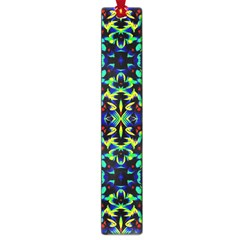 Cool Green Blue Yellow Design Large Book Marks by Costasonlineshop