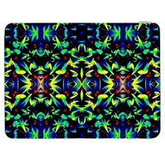 Cool Green Blue Yellow Design Samsung Galaxy Tab 7  P1000 Flip Case by Costasonlineshop