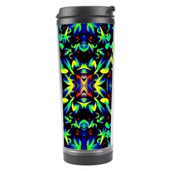 Cool Green Blue Yellow Design Travel Tumblers by Costasonlineshop
