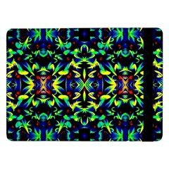 Cool Green Blue Yellow Design Samsung Galaxy Tab Pro 12 2  Flip Case by Costasonlineshop