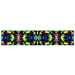 Cool Green Blue Yellow Design Flano Scarf (small)