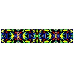 Cool Green Blue Yellow Design Flano Scarf (large)  by Costasonlineshop
