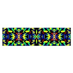 Cool Green Blue Yellow Design Satin Scarf (oblong) by Costasonlineshop