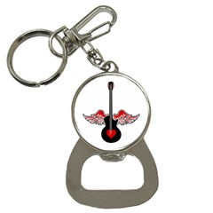 Flying Heart Guitar Bottle Opener Key Chain by waywardmuse