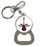Flying Heart Guitar Bottle Opener Key Chain