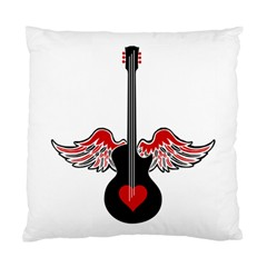 Flying Heart Guitar Standard Cushion Case (two Sides) by waywardmuse
