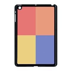 4 Squaresapple Ipad Mini Case (black) by LalyLauraFLM